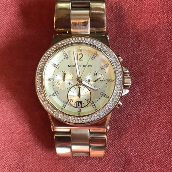 Michael Kors Other - Michael Kors Ladies Chronograph Stone Set Watch